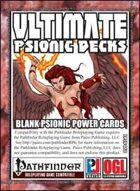 Ultimate Psionic Decks: Blank Psionic Power Cards (PFRPG)