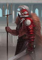 Arena Gladiator - Full page illustration