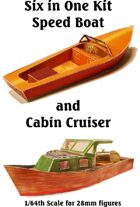 6 in 1 Speed Boat & Cabin Cruiser
