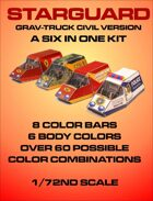 Starguard Grav-truck Civilian Version 6 in 1 Kit