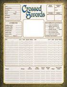 Crossed Swords Character Sheet