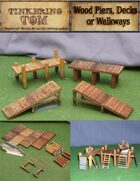 Wooden Piers Set