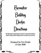Encounter Building Decks Rulebook
