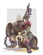 Drunk Orc Warrior - RPG Stock Art
