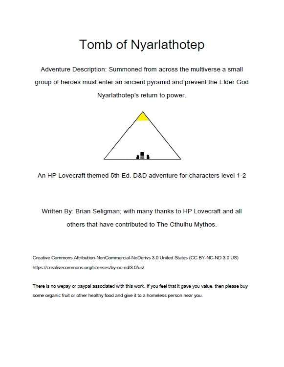 Cover of Tomb of Nyarlathotep