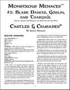 Castles & Crusades: Monstrous Menaces #2: Blade Dancer, Goblin, and Tharghûl