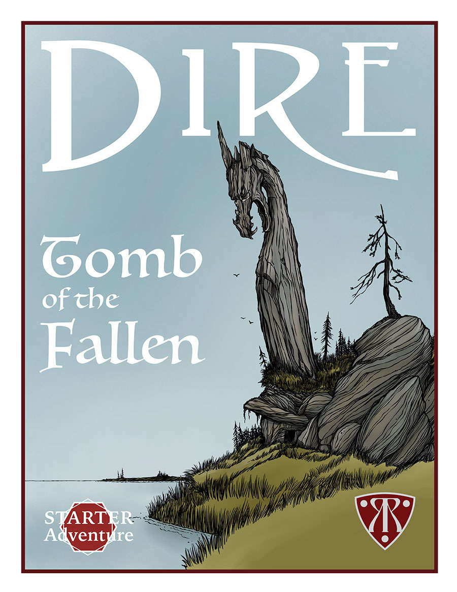 Cover of Dire: Tomb of the Fallen