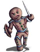 THC Stock Art: Gingerbread Warrior (.png)