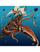 THC Stock Art: Giant Squid (color)