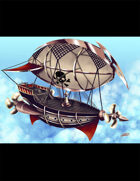 THC Stock Art: Pirate Airship (2 files - Floating & with BG)