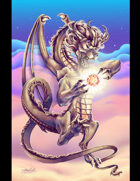 THC Stock Art: Spellcasting Lion Dragon