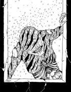 THC Stock Art: Ash Creature (BW png)