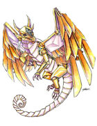 THC Stock Art: Clockwork Dragon (png)