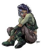 THC Stock Art: Kyne - Cyberpunk Fixer
