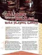 Creating Enjoyable Puzzles for Role Playing Games [5E]