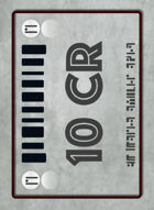 Tabletop Money 10 Credit Deck (40 Cards)