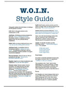 WOIN Style Guide