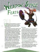 TRAILseeker 005: Weapon Style Feats
