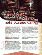 TRAILseeker 006: Creating Enjoyable Puzzles for Role Playing Games