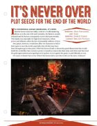 EN5ider #58 - It's Never Over: Plot Seeds for the End of the World