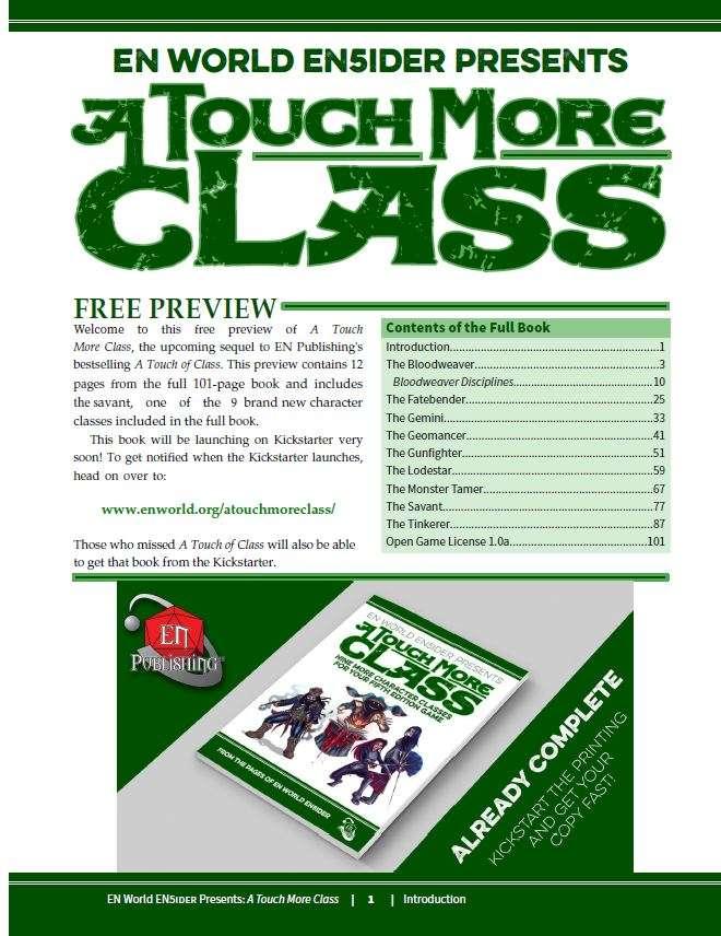 5E] A Touch More Class Exclusive Preview: The Savant - EN Publishing