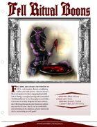 EN5ider #104 - Fell Ritual Boons