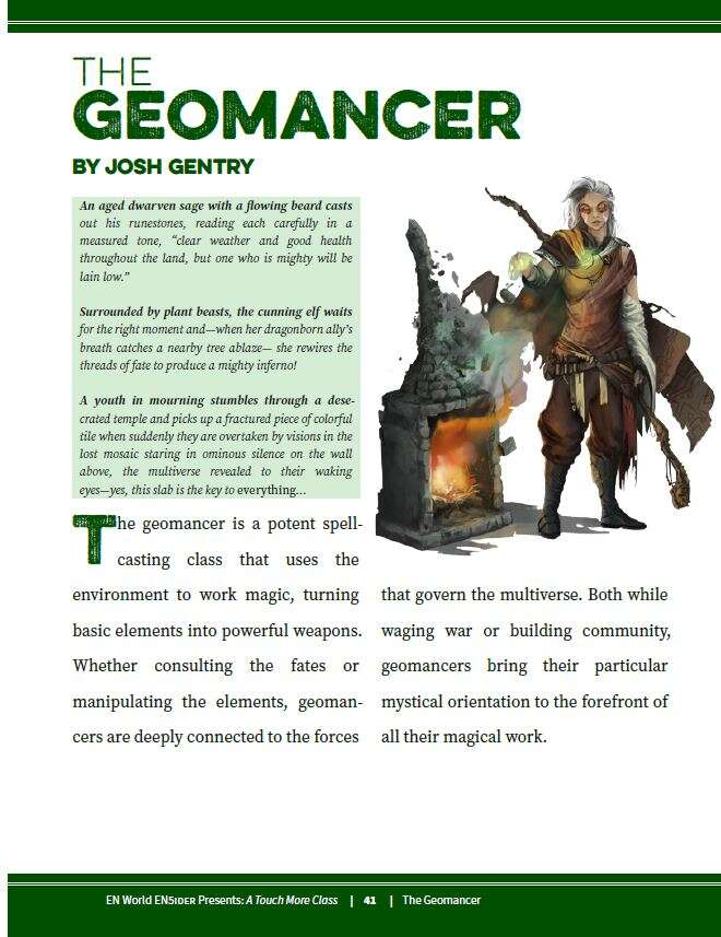 5E] A Touch More Class Exclusive Preview: The Geomancer - EN