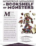 EN5ider #109 - Monstrous Menagerie: A Bookshelf of Monsters