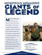 EN5ider #123 - Monstrous Menagerie: Giants of Legend