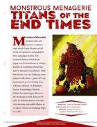 EN5ider #126 - Monstrous Menagerie: Titans of the End Times