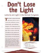 EN5ider #135 - Don't Lose the Light: Lanterns & Light in the Darkest Dungeons