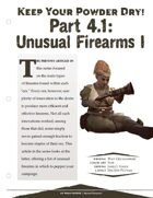 EN5ider #167 - Keep Your Powder Dry! Part 4.1: Unusual Firearms