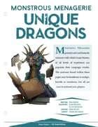 EN5ider #303 - Monstrous Menagerie: Unique Dragons