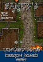 Santy's Fantasy Map Pack - Dragon Hoard Series