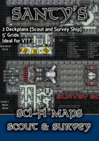 Starship Deckplans for Sci Fi Gaming - Scout Ship and Survey Scout