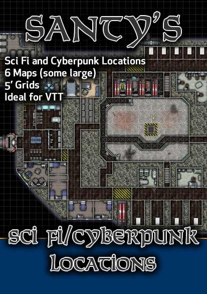 Near Future & Cyberpunk Map Set
