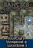Santy's Fantasy Map Pack - Dungeons and Locations 3