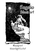 Woodprints: Moonlight Lutist