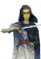 Vagelio Kaliva - Stock watercolour character portrait - Githyanki warrior