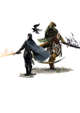 Vagelio Kaliva - Stock character digital sketch - cleric and fighter