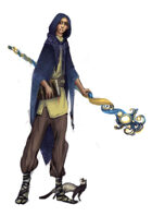 Stock character digital sketch: Young wizard
