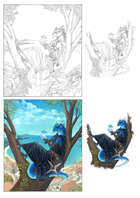 Character stock sketch and color series: Dragonborn sorcerer