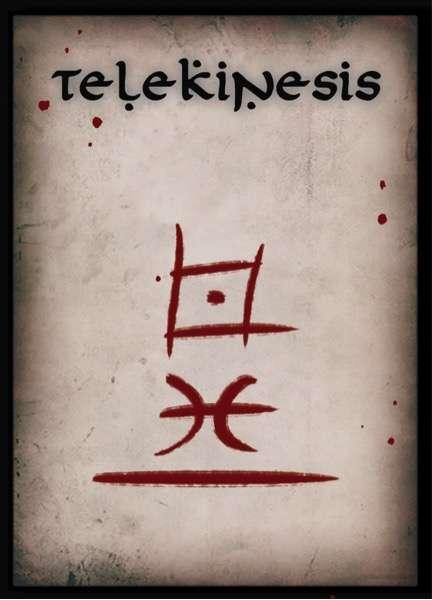 Telekinesis Spell Cards - Schwalb Entertainment