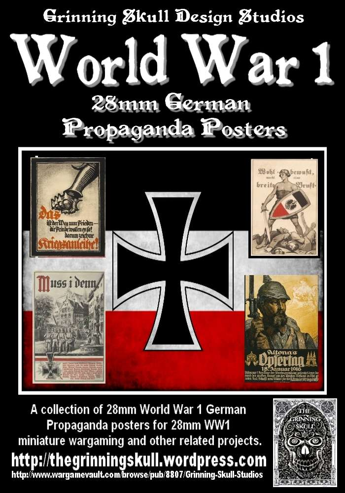 World War 1 28mm German Propaganda posters - Grinning ...