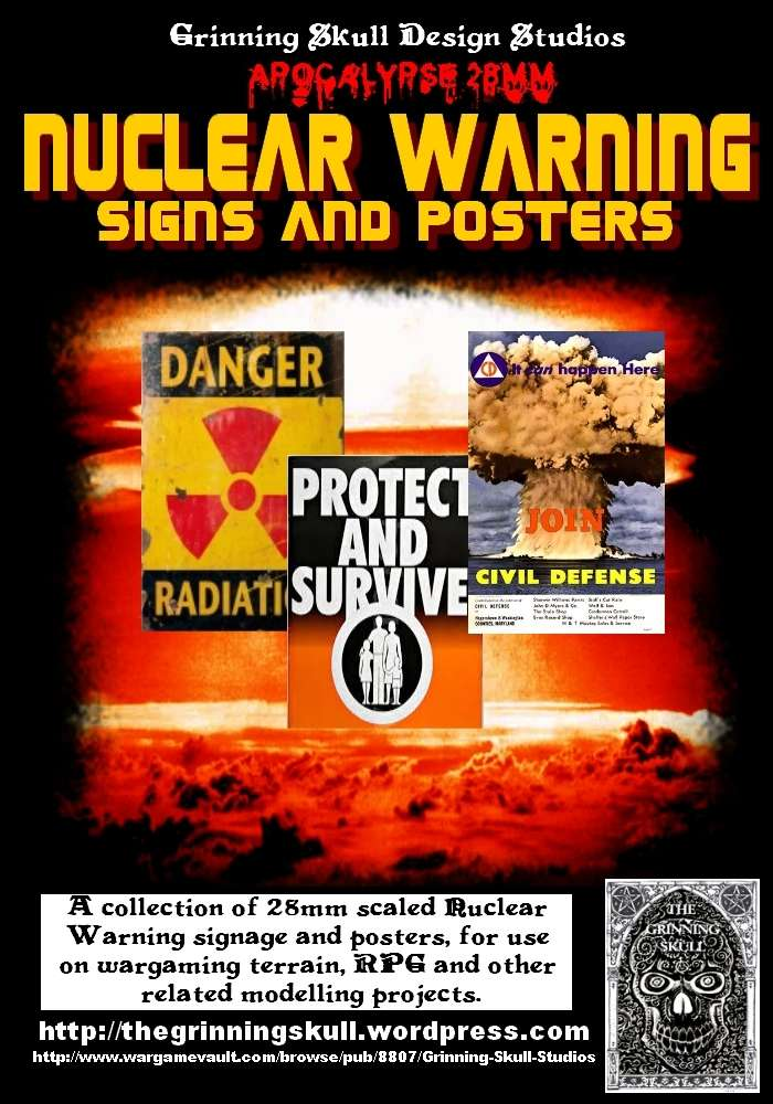 Apocalypse 28mm: Nuclear Warning signs & posters ...
