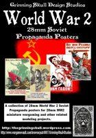 World War 2 28mm Soviet Propaganda posters