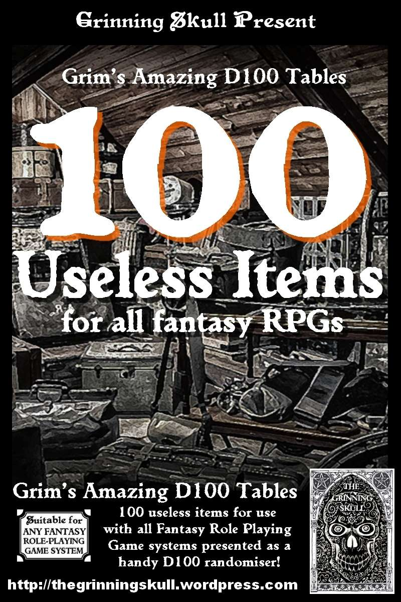 100 Useless items for all Fantasy RPGs - Grinning Skull Studios