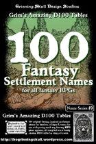 100 Fantasy Settlement Names for all fantasy RPGs