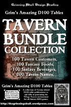 Grim's Amazing D100 tables Tavern Bundle Collection [BUNDLE]
