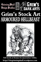 Grim's Stock Art: Armoured Hellbeast